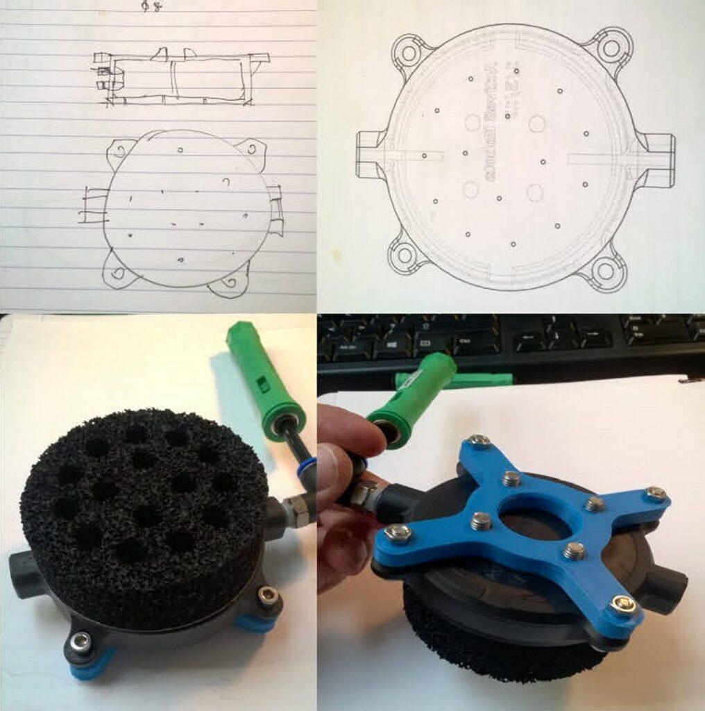 3d printed vacuum manifold tool working prototype EOAT